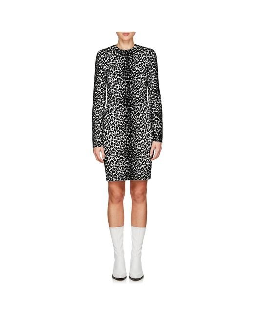 Givenchy - Black Animal Print Longsleeved Dress - Lyst