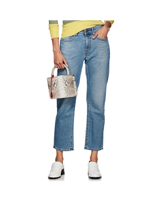 Care Label Blue Kathy High-rise Relaxed Jeans