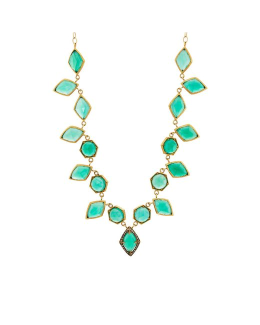 Cathy Waterman   Green Onyx Centerpiece Necklace   Lyst