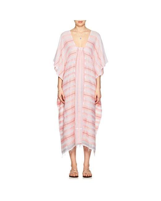 Lemlem - Pink Tereza Striped Cotton Caftan - Lyst