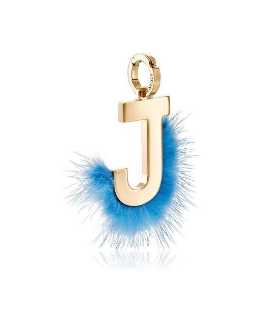 Fendi   Metallic Abclick J Bag Charm   Lyst