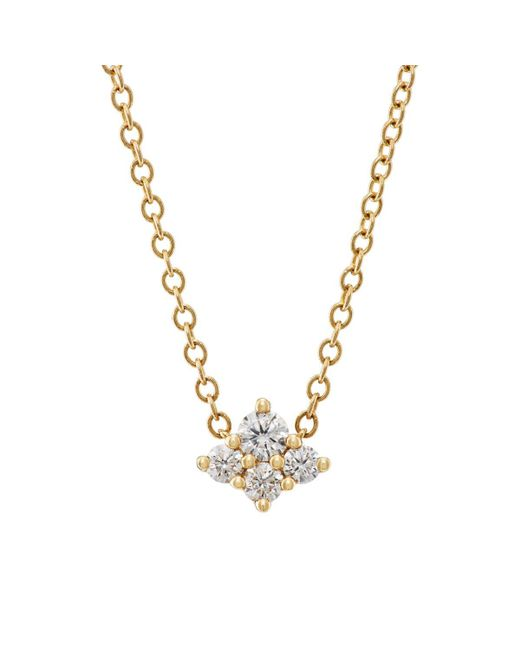 Sara Weinstock - Metallic Diamond Cluster Necklace - Lyst