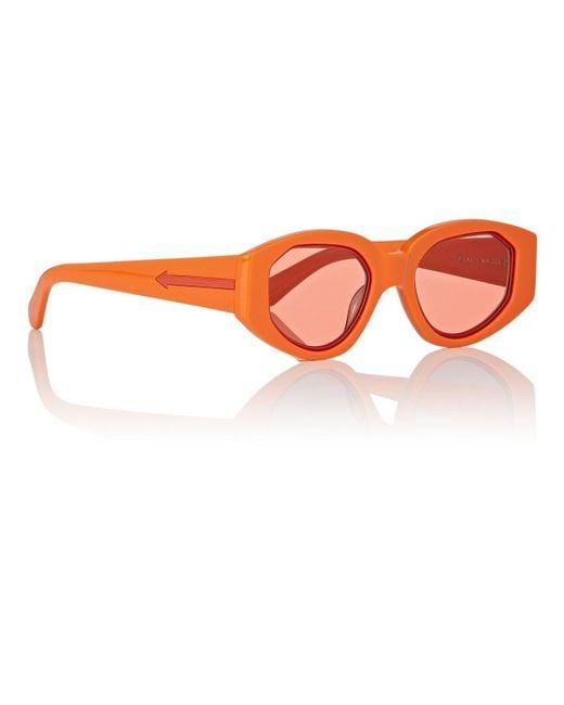 6b25d80c0d ... Karen Walker - Orange Castaway Sunglasses - Lyst ...