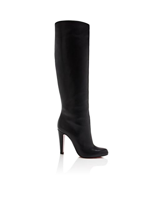 Christian Louboutin - Black Marmara Leather Knee Boots - Lyst