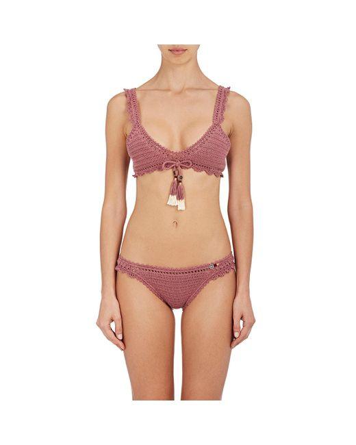 She Made Me - Multicolor Amira Crochet Bikini Top - Lyst