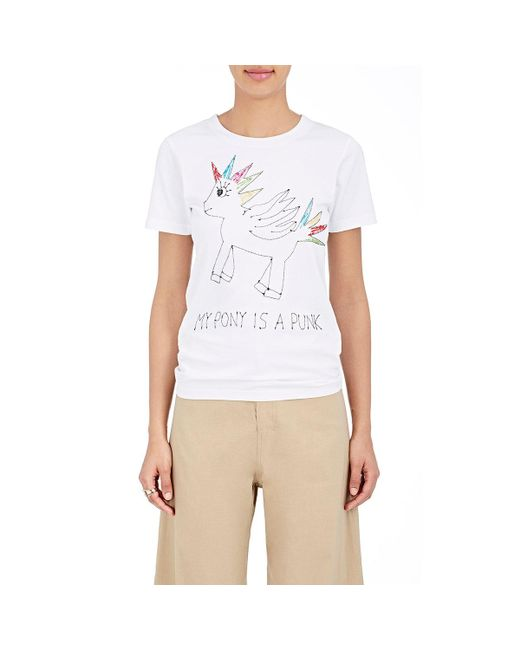 Jimi Roos | White Punk Pony Cotton T | Lyst