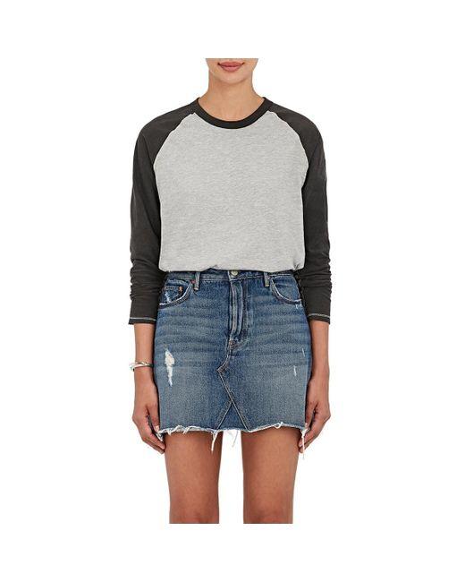 NSF - Gray Harley Cotton-blend Raglan T-shirt - Lyst