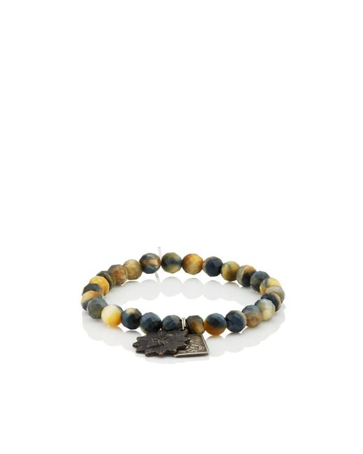 Miracle Icons Blue Vintage-icon Beaded Bracelet for men