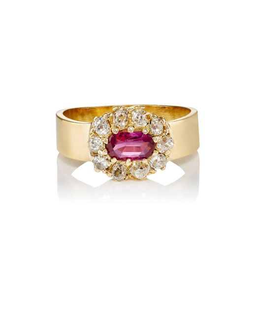 Renee Lewis | Red White Diamond & Ruby Ring | Lyst