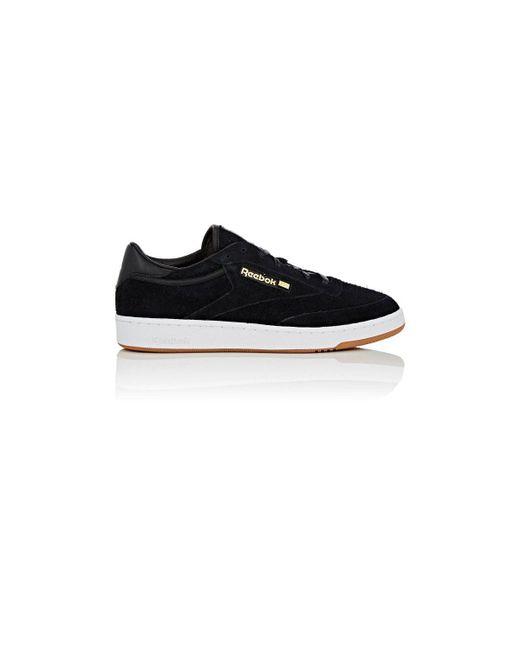 Reebok Black Thedrop@barneys: Club C 85 Suede Sneakers