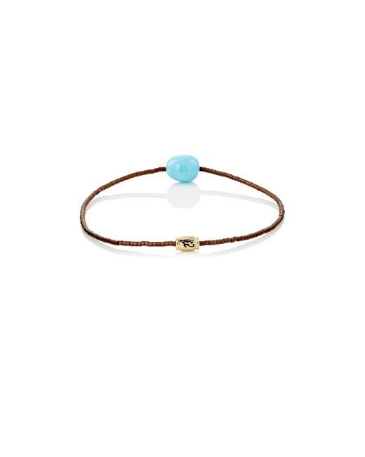 Luis Morais - Blue Eye Of Horus Beaded Bracelet for Men - Lyst