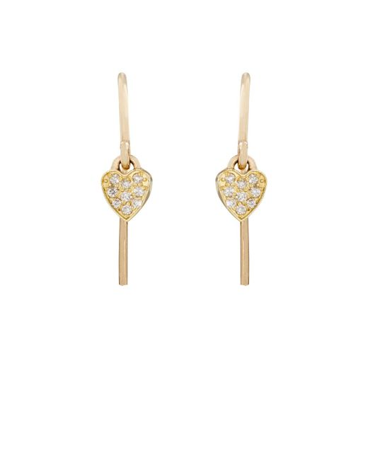 Jennifer Meyer | Metallic Heart Drop Earrings | Lyst