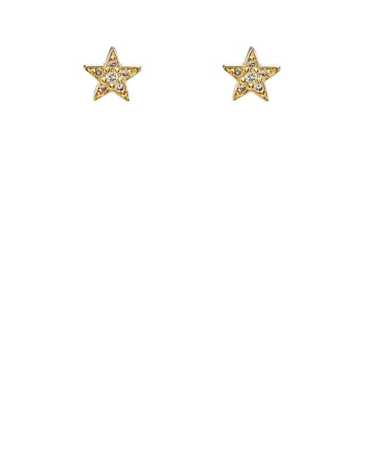 Jennifer Meyer - White Diamond Mini Star Stud Earrings - Lyst