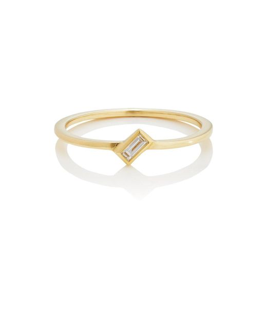 Ileana Makri - Metallic Baguette White Diamond Ring Size 6 - Lyst