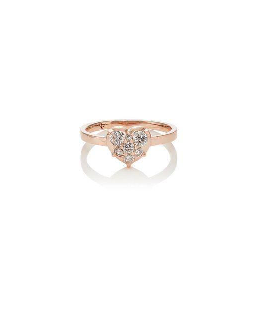 Carbon & Hyde   Metallic Mini Heart Ring   Lyst
