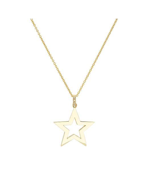 Jennifer Meyer - Metallic Open Star Pendant Necklace - Lyst