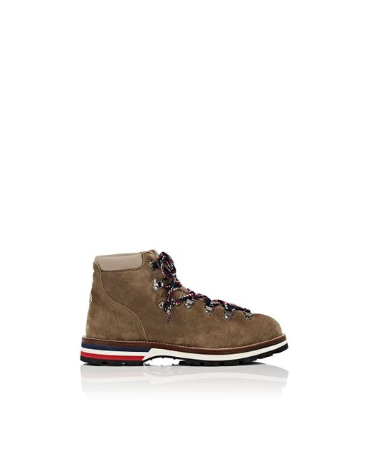 Moncler Brown Peak Suede Hiking Boots for men