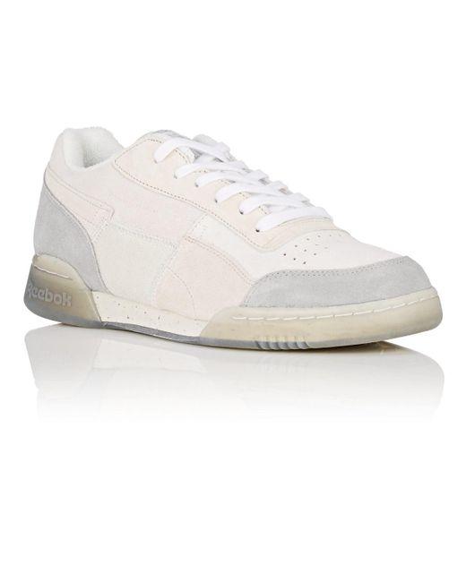 ee7cbd318ee ... Reebok - White Workout Plus Tribute Sneakers for Men - Lyst ...