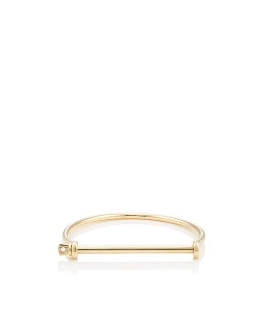 Miansai Metallic Thin Screw Cuff Bracelet for men