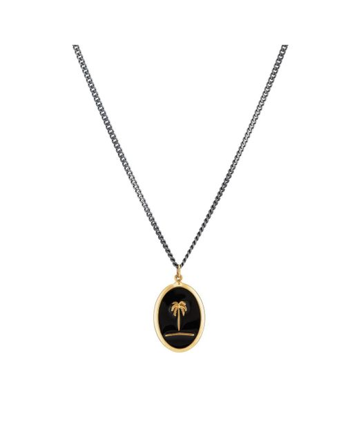 Miansai - Black Palm Tree Pendant Necklace for Men - Lyst