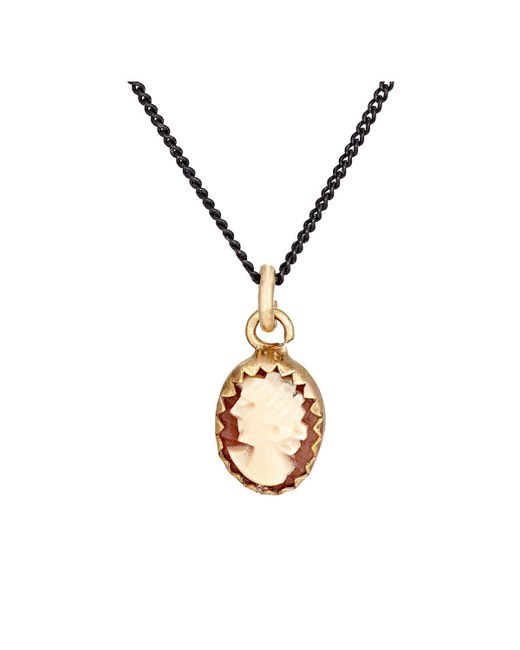 Julie Wolfe   Metallic Cameo Pendant Necklace   Lyst
