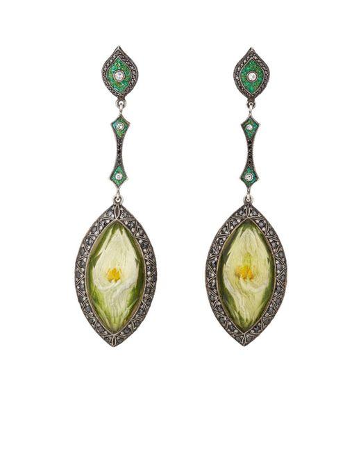 Sevan Biçakci - Green Tulip Intaglio Drop Earrings - Lyst