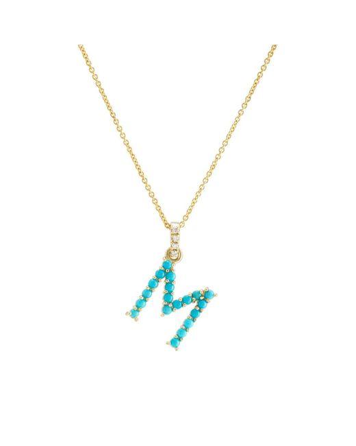 Jennifer Meyer - Blue m Pendant Necklace - Lyst