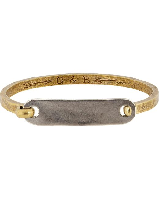 Giles & Brother - Multicolor id Tag With Hinge Cuff Bracelet for Men - Lyst