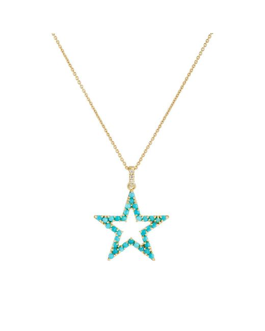 Jennifer Meyer - Metallic Open Star Pendant Necklace - Lyst