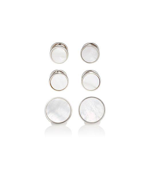 Barneys New York   White Round Formal Set for Men   Lyst
