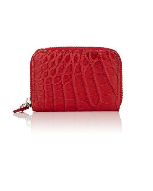Barneys New York - Red Small Alligator Zip for Men - Lyst