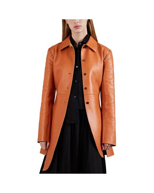 Loewe - Natural Side-slit Leather Structured Jacket - Lyst