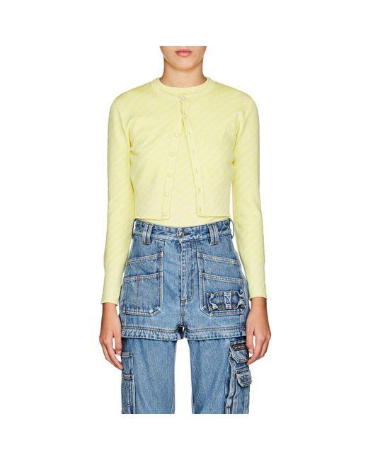 Balenciaga - Yellow Logo Wool - Lyst