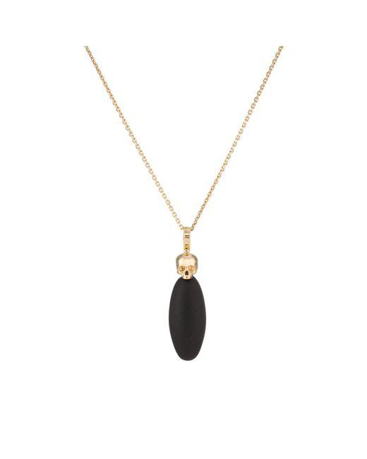 Luis Morais - Black Lingam & Skull Pendant Necklace for Men - Lyst
