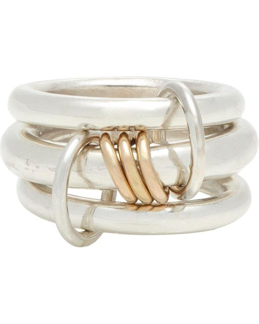 Spinelli Kilcollin | Metallic Sterling Silver & Rose lynx Ring for Men | Lyst