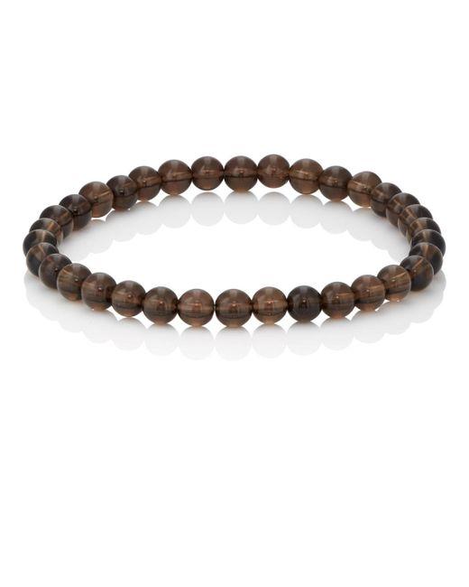 Barneys New York - Gray Smoky Quartz Beaded Bracelet for Men - Lyst