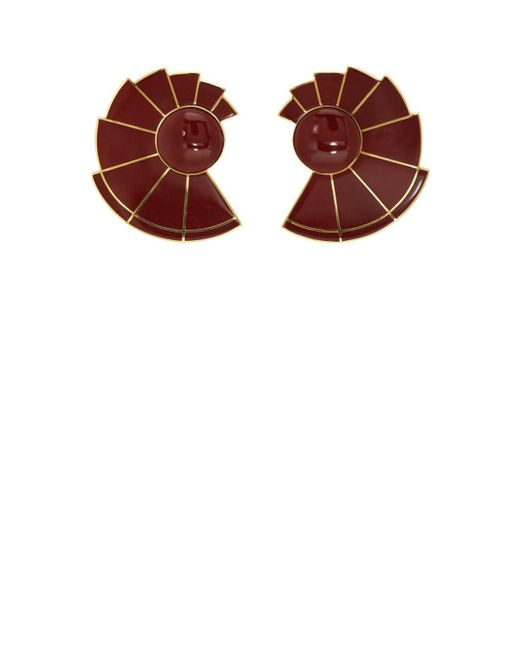Monica Sordo - Metallic Nautilus Earfan Earrings - Lyst