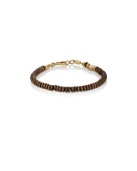 Caputo & Co. - Metallic Distressed Brass Beaded Bracelet for Men - Lyst