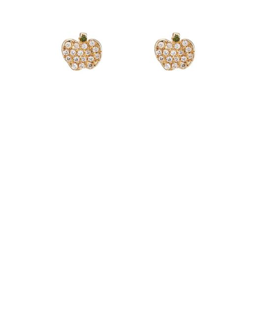 Bianca Pratt - Metallic Apple Stud Earrings - Lyst