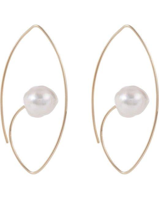 Hirotaka - Metallic South Sea Pearl & Gold Floating Earring - Lyst