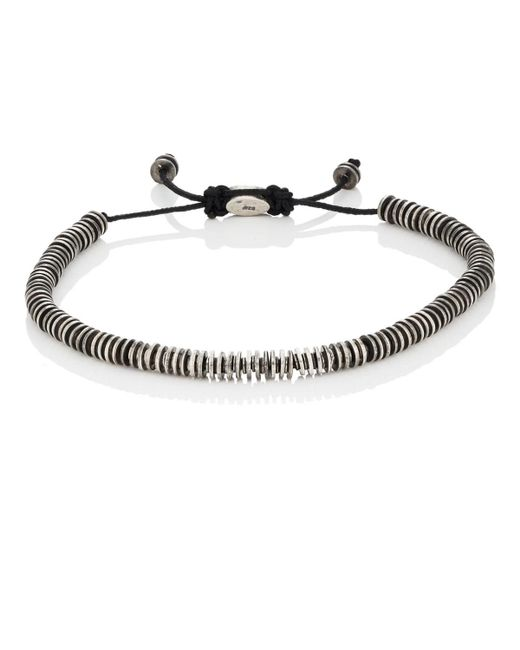 M. Cohen - Metallic Sterling Silver Rondelle Bracelet for Men - Lyst