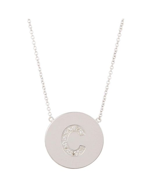 Jennifer Meyer | White Initial Pendant Necklace | Lyst