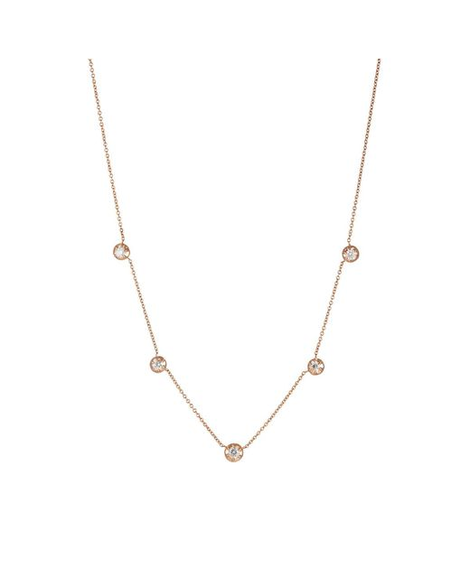 Carbon & Hyde | Metallic Rose Necklace | Lyst