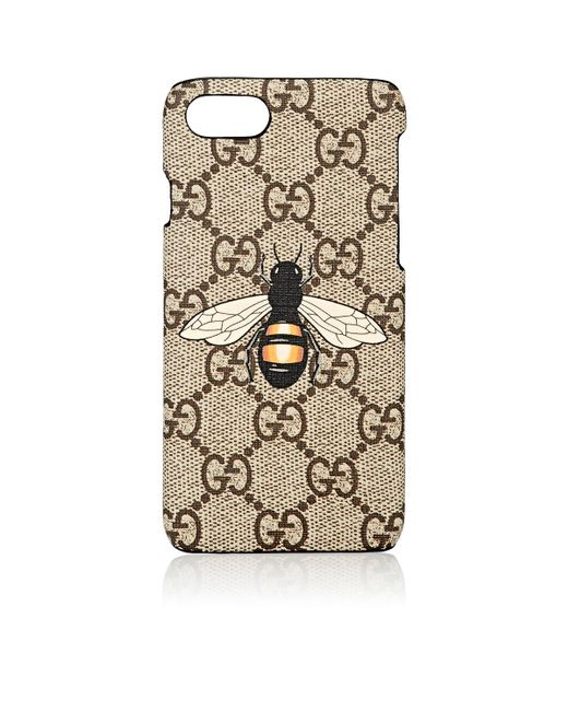 gucci iphone 7 case in natural lyst. Black Bedroom Furniture Sets. Home Design Ideas