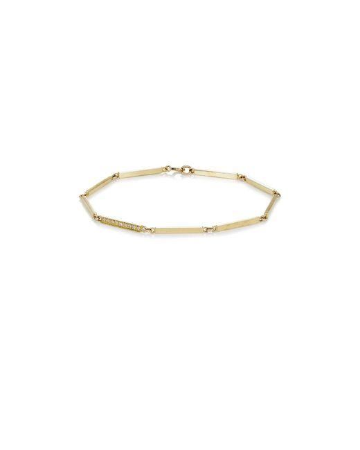 Jennifer Meyer | Metallic White Diamond & Yellow Gold Bar | Lyst