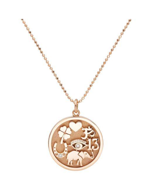 Jennifer Meyer - Metallic Good Luck Charm Pendant Necklace - Lyst