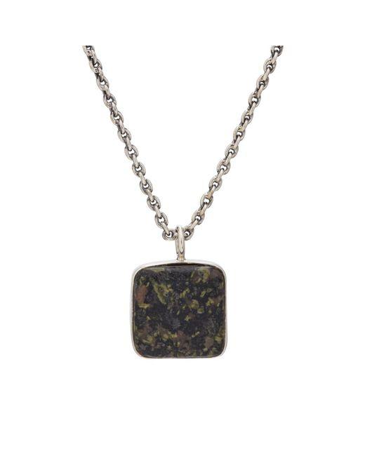 Caputo & Co. - Gray Jasper Pendant Necklace for Men - Lyst