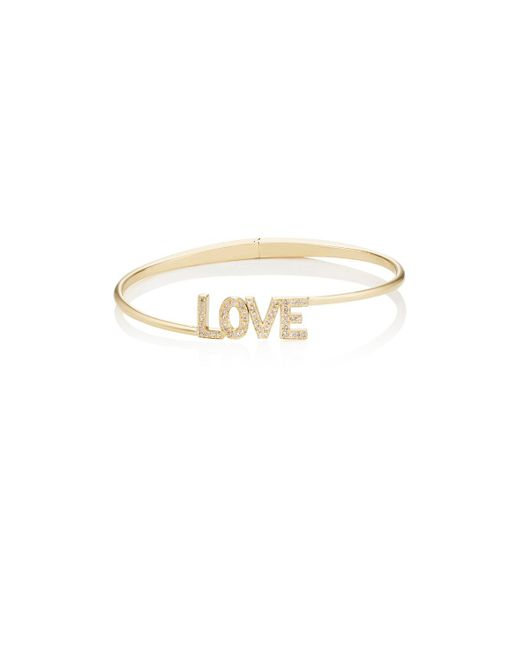 Jennifer Meyer | Metallic love Hinged Bracelet | Lyst