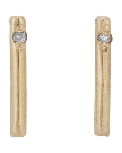 Loren Stewart | Multicolor Diamond & Gold Small Rod Stud Earrings | Lyst