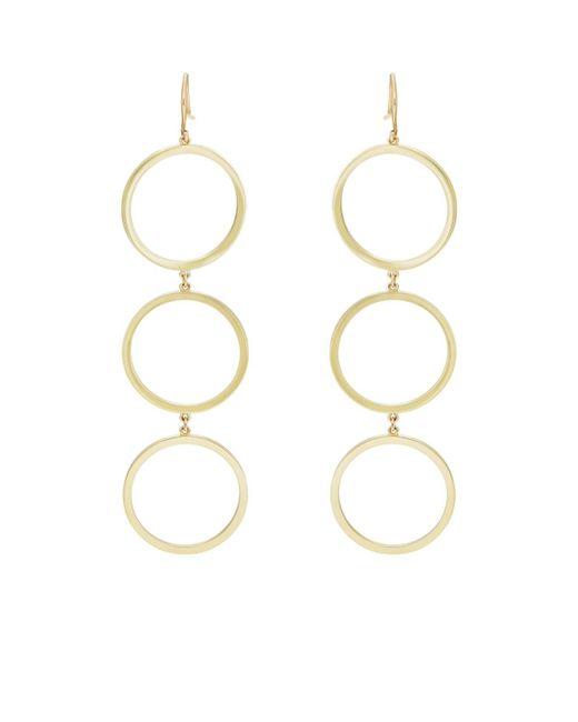 Jennifer Meyer - Metallic Three-open-circle Drop Earrings - Lyst